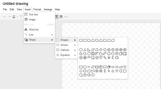 สร้างไดอะแกรมจาก Google docs