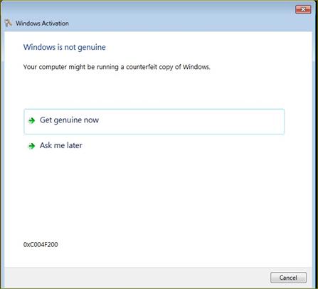 แก้ปัญหา windows acttivation